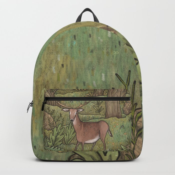 Deer in Woodland Backpack