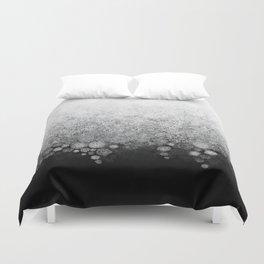 Snowfall on Black Duvet Cover