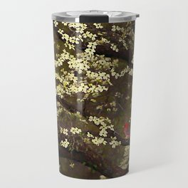 The Dogwoods and the Cardinal Travel Mug