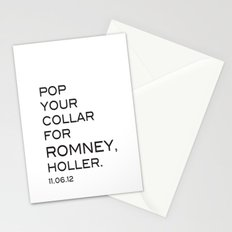 Pop your collar Stationery Cards