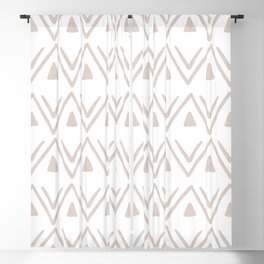 Etched Zig Zag Pattern in Tan Blackout Curtain