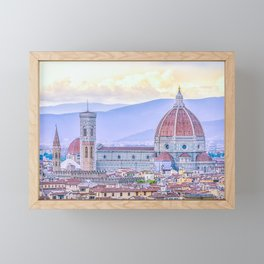 Cathedral of Santa Maria del Fiore  Florence Italy Framed Mini Art Print