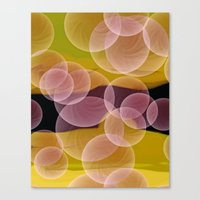 bubbles Canvas Prints featuring Bubbles by lillianhibiscus