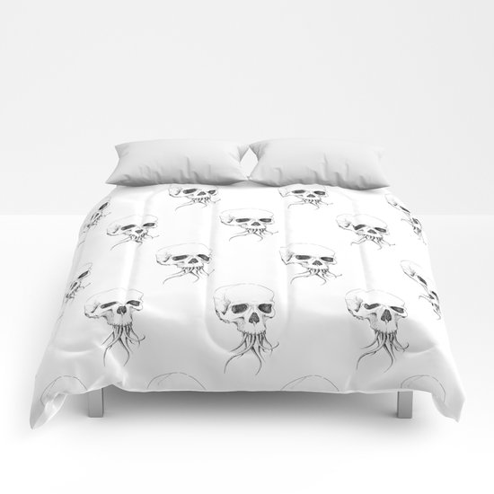 Skull with Tentacles Comforters