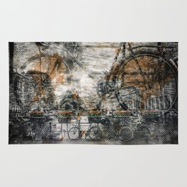 City-Art AMSTERDAM Bicycles Rug