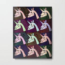 Dia De Los Unicornios Metal Print