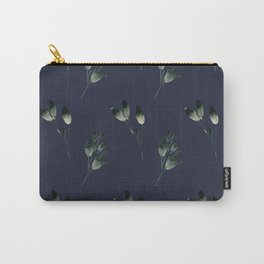 Winter Leaf Pattern (Blue) Carry-All Pouch