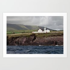 Lighthouse in the Dingle Bay Art Print