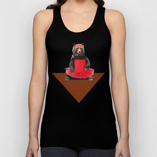 the bear who wanted to become a dancer Unisex Tank Top