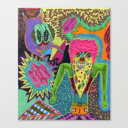 Pizza Brainz Canvas Print