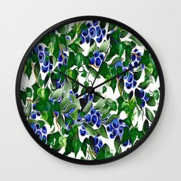 Blueberries and Ivy Wall Clock