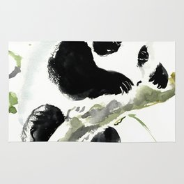 Baby Panda, Panda Bear Design, Asian ink Art Rug