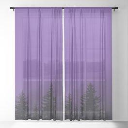 Ultra Violet Fog - Seward Alaska Sheer Curtain