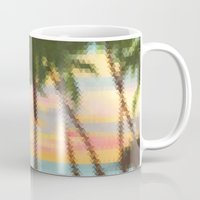 palm Mugs featuring palm by OVERall