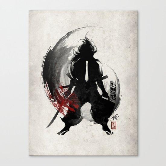 Corporate Samurai Canvas Print