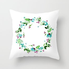 Turquoise and Caicos Throw Pillow