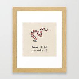 Snake It Framed Art Print