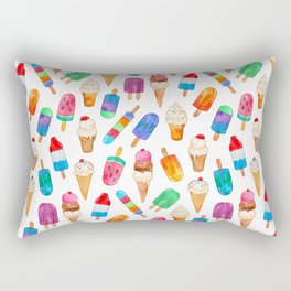 Summer Pops and Ice Cream Dreams Rectangular Pillow