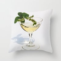martini Throw Pillows featuring  Peppermint Martini by Guna Andersone & Mario Raats - G&M Studi