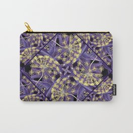 Golden Blooms in a Purple Mist Carry-All Pouch
