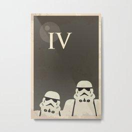 Star Wars Minimal Movie Poster Metal Print