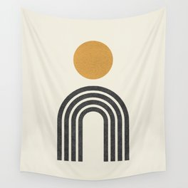 Mid century modern gold Wall Tapestry