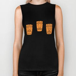 The Tiki Bar in Orange Biker Tank