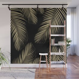 Palm Leaves - Gold Cali Vibes #4 #tropical #decor #art #society6 Wall Mural