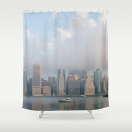Cloudy in New York Shower Curtain
