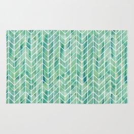 Caribbean green watercolor pattern Rug