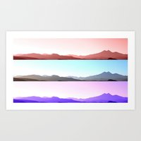 skyline Art Prints featuring Skyline by Augustina Trejo