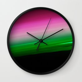 Pink Green Ombre Wall Clock