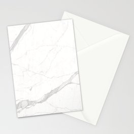 White Winter Marble Pattern Stationery Cards