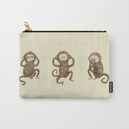 Three Wise Monkeys Carry-All Pouch