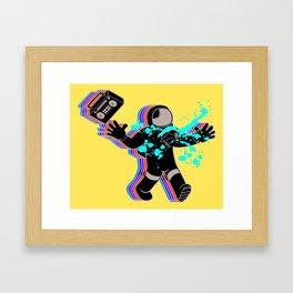 Boombox Astronaut Alien Chestburster Parody Framed Art Print