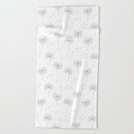 Dandelions in Grey Beach Towel