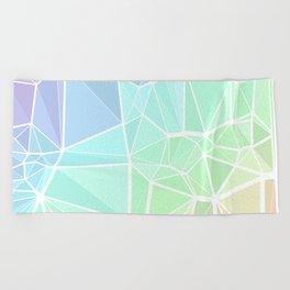 Rainbow Triangles Beach Towel