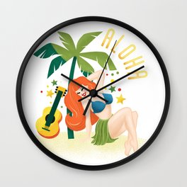 Aloha From Sunny Hawaii Wish You Were Here Wall Clock