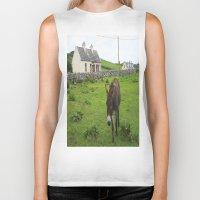 irish Biker Tanks featuring Irish Cottage by Kim Ramage