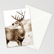 White-tailed Stag Sniffing the Air Stationery Cards