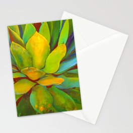 COLORFUL MODERN ABSTRACT AGAVE CACTUS INSPIRED ART Stationery Cards