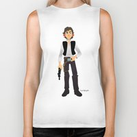 han solo Biker Tanks featuring Han Solo by Roe Mesquita