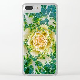 Decorative cabbage pattern Clear iPhone Case