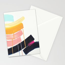 Stay- abstract painting by Jen Sievers Stationery Cards