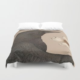 The Crow and Dogwoods Duvet Cover