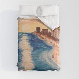 Sunset at Navarre Beach Condos Comforters