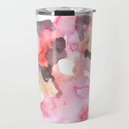 Watercolor Pink Black Gold Flow | [dec-connect] 52. breakfree Travel Mug