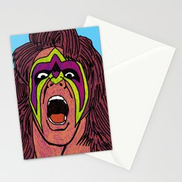 ultimate warrior Stationery Cards