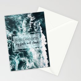 In Oceans Deep My Faith Will Stand Stationery Cards