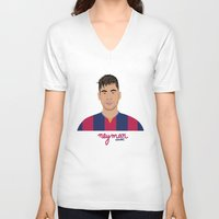 neymar V-neck T-shirts featuring NEYMAR - FC BARCELONE by THE CHAMPION'S LEAGUE'S CHAMPIONS
